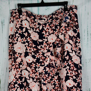 Banana Republic Navy Floral  Skirt Size 14